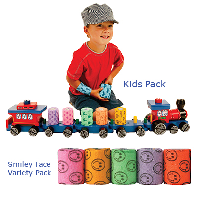 "Patterson Medical Kid's Pack & Smiley Face Variety Pack Coflex - Kids Pack, 2"" x 5 yds. (5.1cm x 4.6m), Box of 36 at Sears.com"